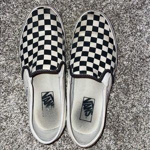 Women's checkered Vans Size 8.5